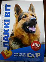 Лакки Витамины для собак с кальцием и фосфором 200таб
