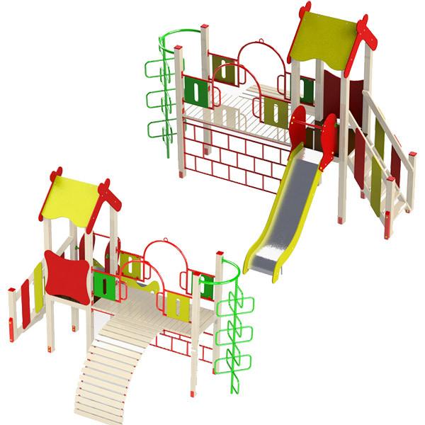 """Дитячий ігровий комплекс """"Рафаель"""". Дитячий майданчик у двір, школу, садок. Гірка, сходи, гойдалки, рукохід."""