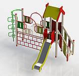 """Дитячий ігровий комплекс """"Рафаель"""". Дитячий майданчик у двір, школу, садок. Гірка, сходи, гойдалки, рукохід., фото 3"""