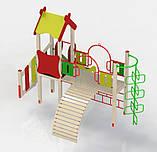 """Дитячий ігровий комплекс """"Рафаель"""". Дитячий майданчик у двір, школу, садок. Гірка, сходи, гойдалки, рукохід., фото 2"""