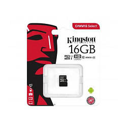 Карта пам'яті Kingston 16GB microSDHC Class 10 UHS-I Canvas Select Plus A1 (без адаптера)