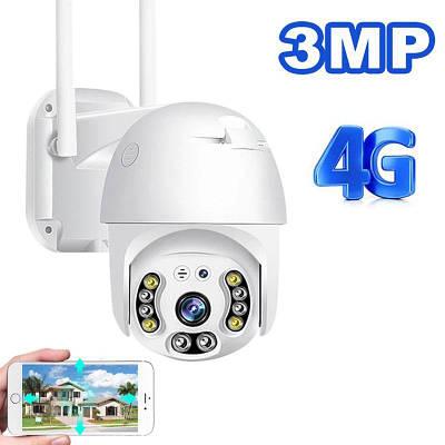 4G камера видеонаблюдения уличная поворотная PTZ под Sim карту Yoosee CLM920, 3 Мегапикселя