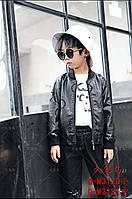 """Куртка-бомбер дитяча шкіряне на блискавки на хлопчика 6-10років """"Star Kids"""" недорого від прямого постачальника"""