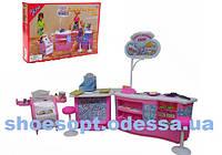 Мебель для кукол Магазин мороженого и конфет: стойка мороженого, стеллаж, стулья