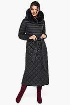 Жіноча куртка стьобана колір чорний модель 31012, фото 2
