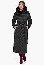 Жіноча куртка стьобана колір чорний модель 31012, фото 3