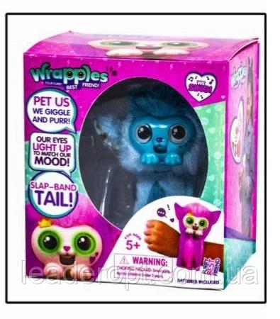 ОПТ Детский Интерактивный браслет на руку с эффектами на батарейках Wrapless игрушка обезьянка Враплес питомец