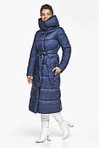 Теплая женская куртка цвет синий бархат модель 45085, фото 3