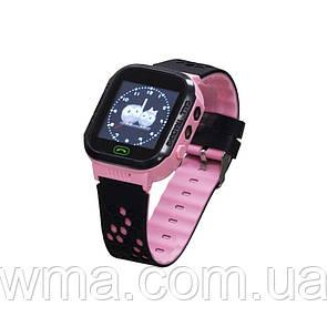 Детские Смарт Часы GM9 Цвет Чёрно-Розовый