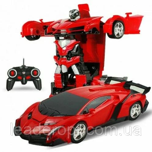 ОПТ Радиуправляемая машина трансформер Ламборджини UTM с пультом Red красная робот