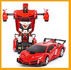 ОПТ Радиуправляемая машина трансформер Ламборджини UTM с пультом Red красная робот, фото 2