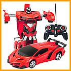 ОПТ Радиуправляемая машина трансформер Ламборджини UTM с пультом Red красная робот, фото 4