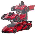 ОПТ Радиуправляемая машина трансформер Ламборджини UTM с пультом Red красная робот, фото 6