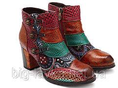 Женские ботинки Socofy ручной работы натуральная кожа 38 р