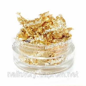 Золотая поталь для ногтей