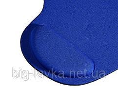 Коврик для мыши с подушкой под запястье Wrist Protect  Синий