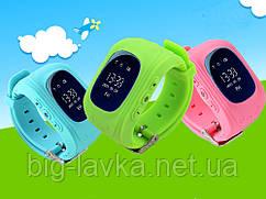 Детские часы с GPS SQ50 трекером  Розовый