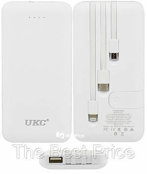 Внешний аккумулятор UKC LP303 10000 mAh переходники White