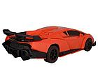 ОПТ Радиуправляемая машина трансформер Bugatti Robot Car с пультом бугатти красная робот, фото 3