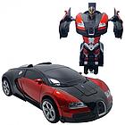 ОПТ Радиуправляемая машина трансформер Bugatti Robot Car с пультом бугатти красная робот, фото 5