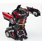 ОПТ Радиуправляемая машина трансформер Bugatti Robot Car с пультом бугатти красная робот, фото 6