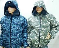"""Куртка зимняя для охраны и охоты """"Пиксель"""" на резинке"""