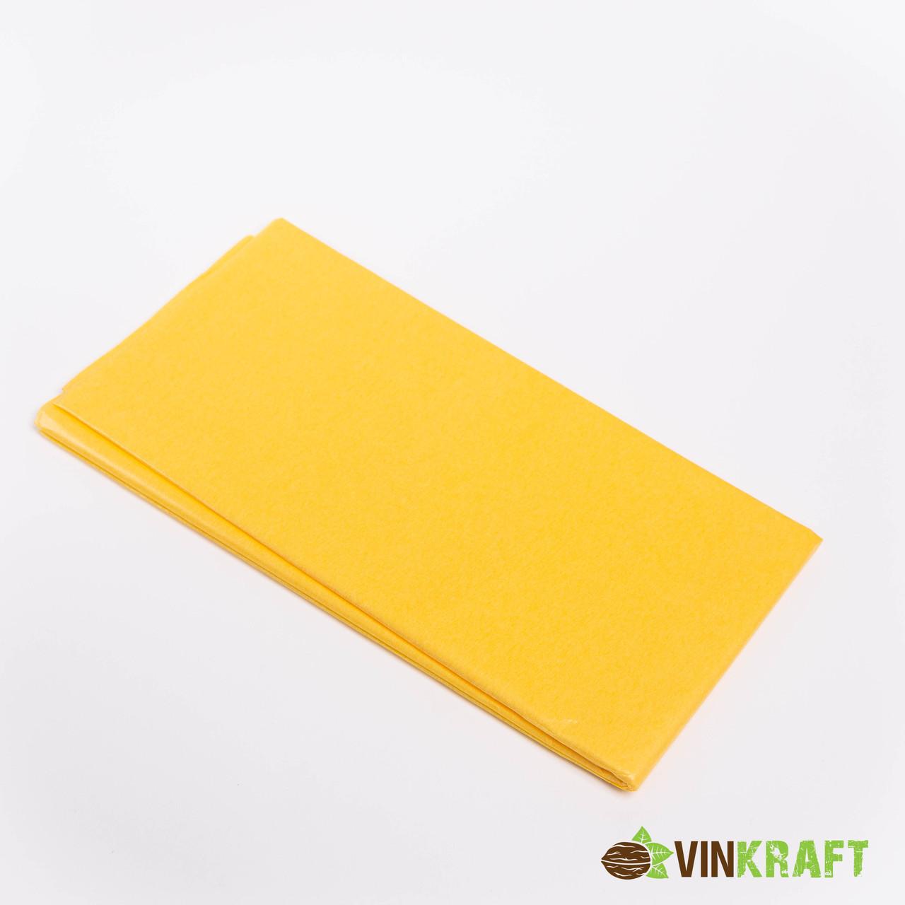 Папір тишью 50*70 см (10 аркушів), жовтий