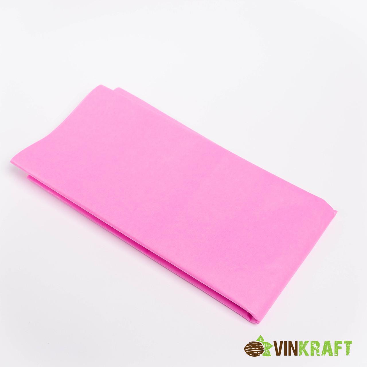 Папір тишею 50*70 см (10 аркушів),, рожевий