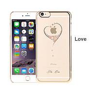"""Накладка KINGXBAR Diamond Heart для iPhone 6 (4,7""""), фото 1"""
