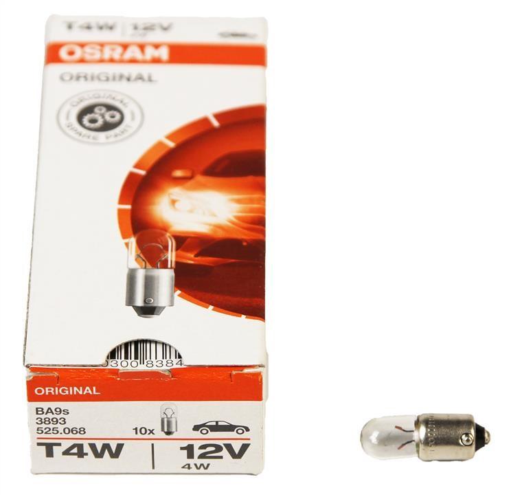 Лампа розжарювання 12V T4W 4W задні габарити класика (Osram) OS3893