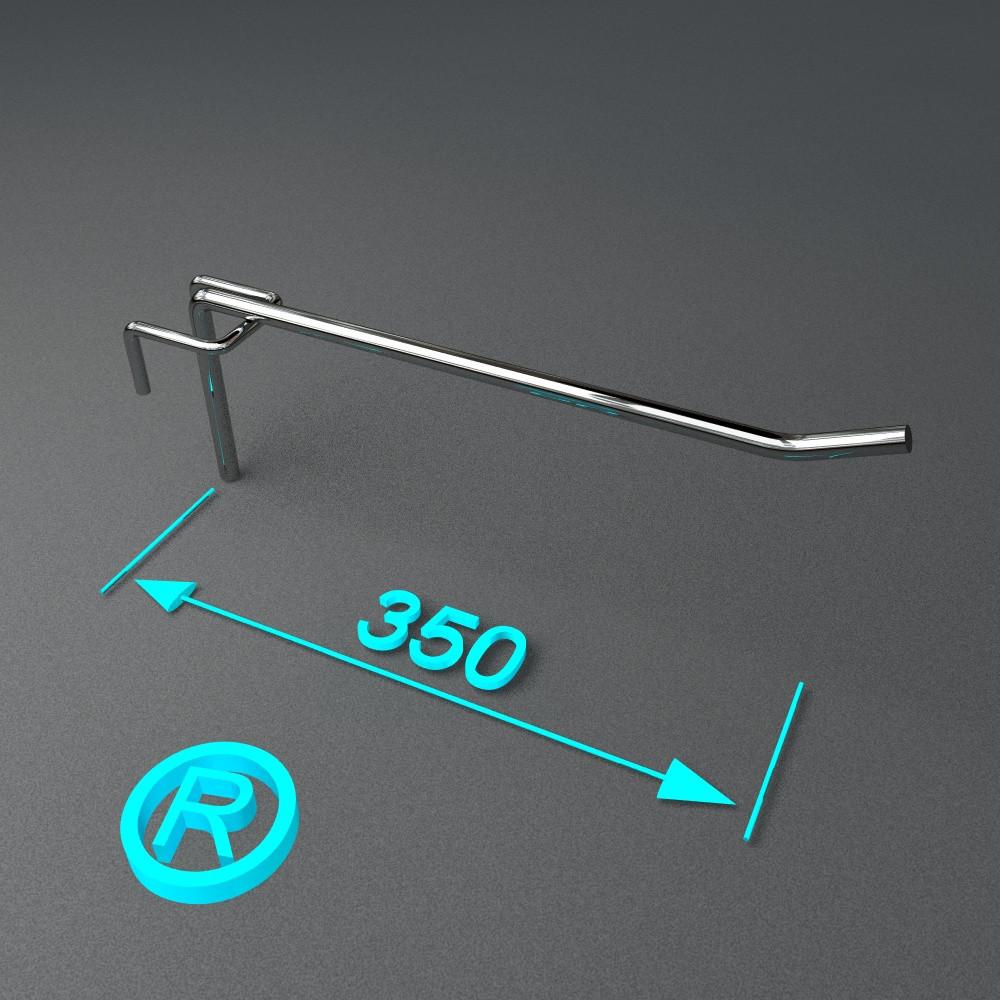 Крючок торговый на сетку 350 мм