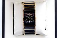 Мужские часы Rado integral gold ceramica AAA наручные кварцевые с календарем даты на керамическом браслете