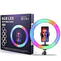 Кольцевая RGB LED лампа USB 33см для селфи SOFT RING LIGHT / MJ33