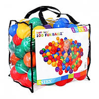 Шарики для сухого бассейна Intex Fun Ballz 100 ШТ, Шарики для бассейна