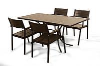 """Комплект меблів для літніх кафе """"Брістоль"""" стіл (160*80) + 4 стільця Венге, фото 1"""
