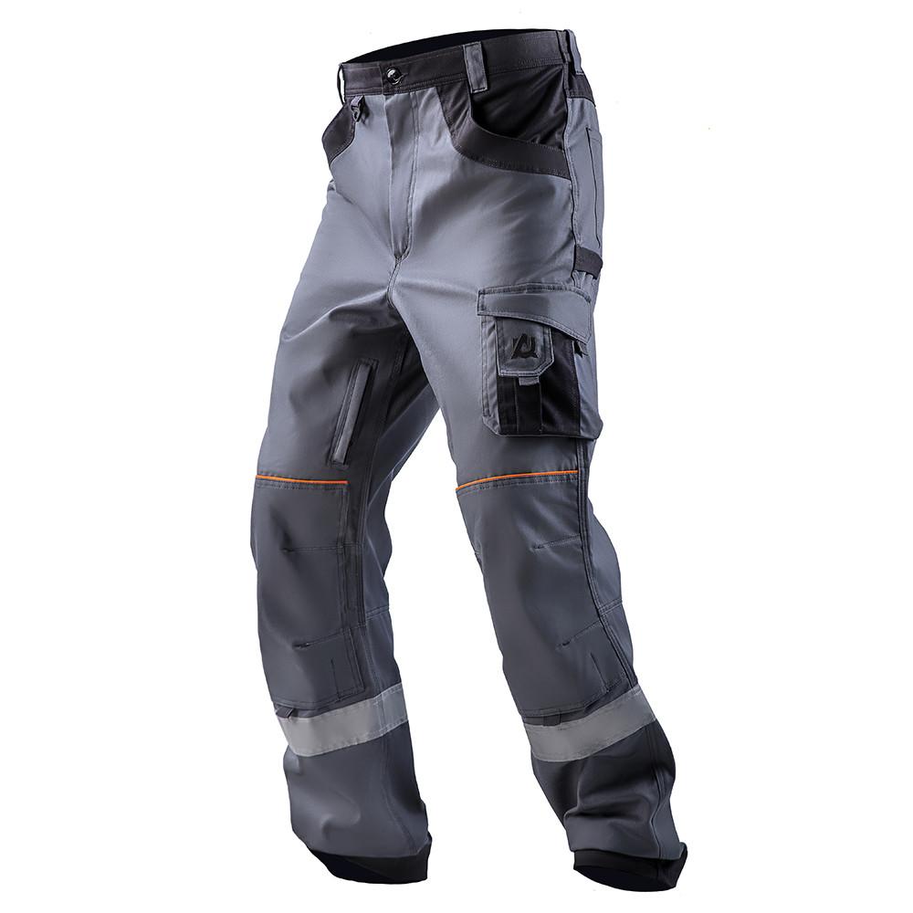Брюки рабочие AURUM, т.серый/серый, хлопок 100%