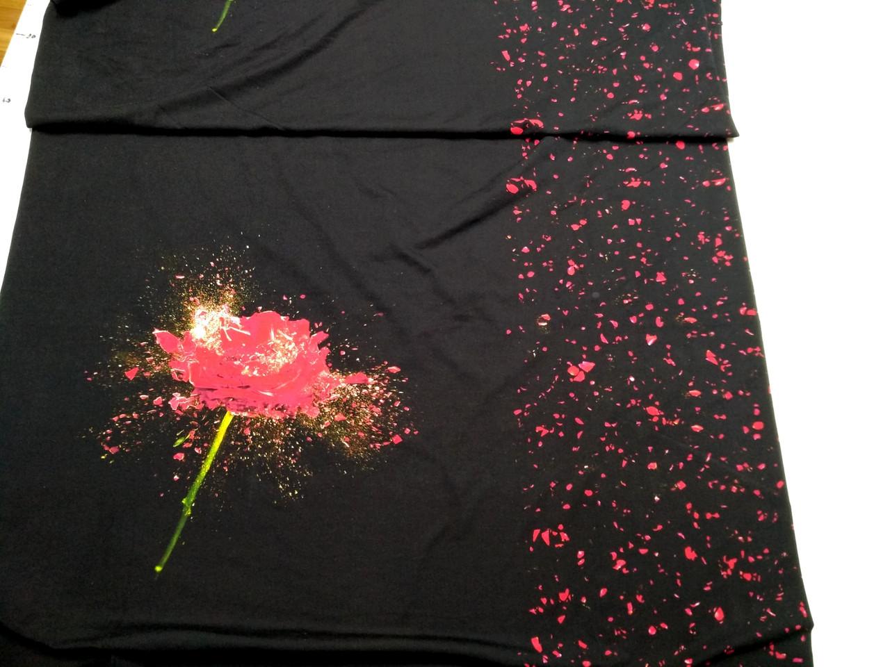"""Футер двунітка """"Троянда"""" купон 65х180 див."""