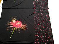 """Футер двунитка """"Роза"""" купон 65х180 см."""