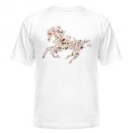 Мужские футболки на заказ  Абстрактная лошадка