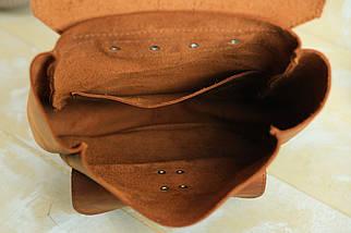 """Жіночий Рюкзак """"Джун"""", Вінтажна шкіра, колір Коньяк, фото 3"""