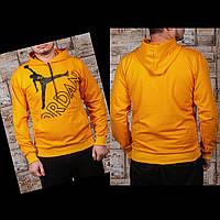 Мужские спортивные трикотажные кофты Jordan размеры 46-52 жёлтые РОСТОВКА