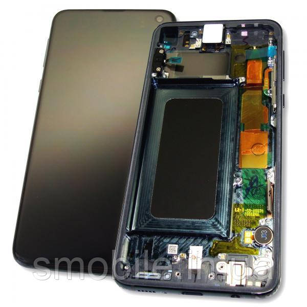 Samsung Дисплей Samsung G970 Galaxy S10e + сенсор і рамка, чорний (оригінал 100%)