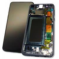 Samsung Дисплей Samsung G970 Galaxy S10e + сенсор і рамка, чорний (оригінал 100%), фото 1