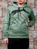 Мужские спортивные трикотажные кофты Puma размеры 46-52 бирюзовые РОСТОВКА