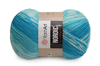 YarnArt Nordic, №663 бирюза-голубой