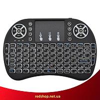 Беспроводная мини клавиатура KEYBOARD MWK08/i8 LED с тачпадом и подсветкой (R8), фото 5