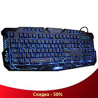 Ігрова клавіатура з підсвічуванням блискавка Atlanfa M200L - Дротова клавіатура Razer з трьома режимами підсвічування, фото 2
