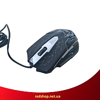Клавиатура V-100 + мышка - игровой комплект проводная клавиатура + мышь с подсветкой молния (R13), фото 4