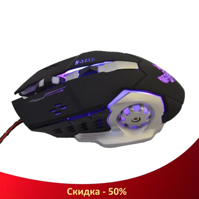 Ігрова мишка GAMING MOUSE X1 - провідна миша з LED з підсвічуванням 4800 dpi (R28)