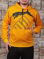Мужские спортивные трикотажные кофты Puma размеры 46-52 желтые РОСТОВКА